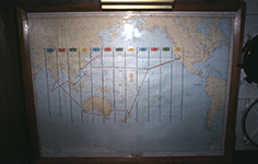 1972 Heading home & chart of deployment track
