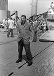 Vern Trenkle on the flight deck
