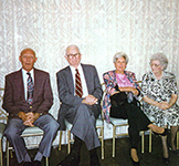 Donald Launer (left), Angeline Launer (3rd from left)